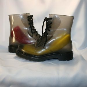 Dirty Laundry See Through Rubber Combat Boots